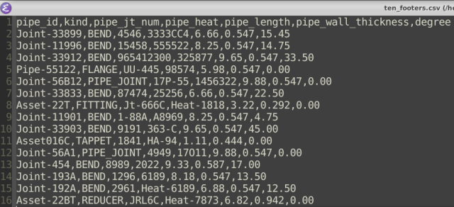 Emacs CSV File