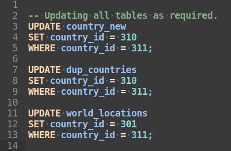 Mysql Update Statements in batch file