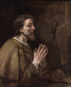 Saint James the Greater *oil on canvas *92.1 x 74.9 cm *signed b.r.: Rembrandt f. 1661