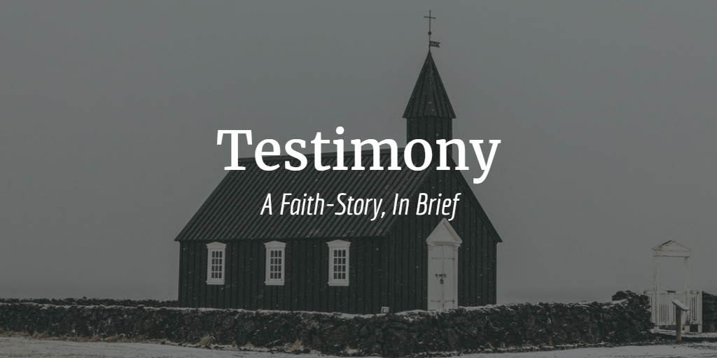 testimony a faith story in brief