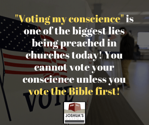 Voting your conscience?