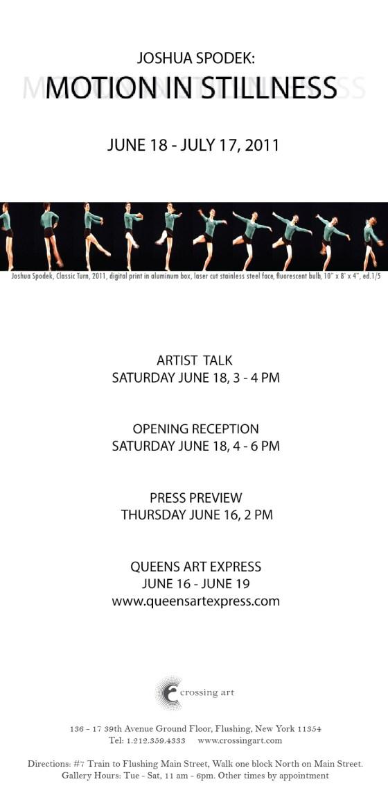 Joshua Spodek's solo opening at Crossing Art Gallery in Queens
