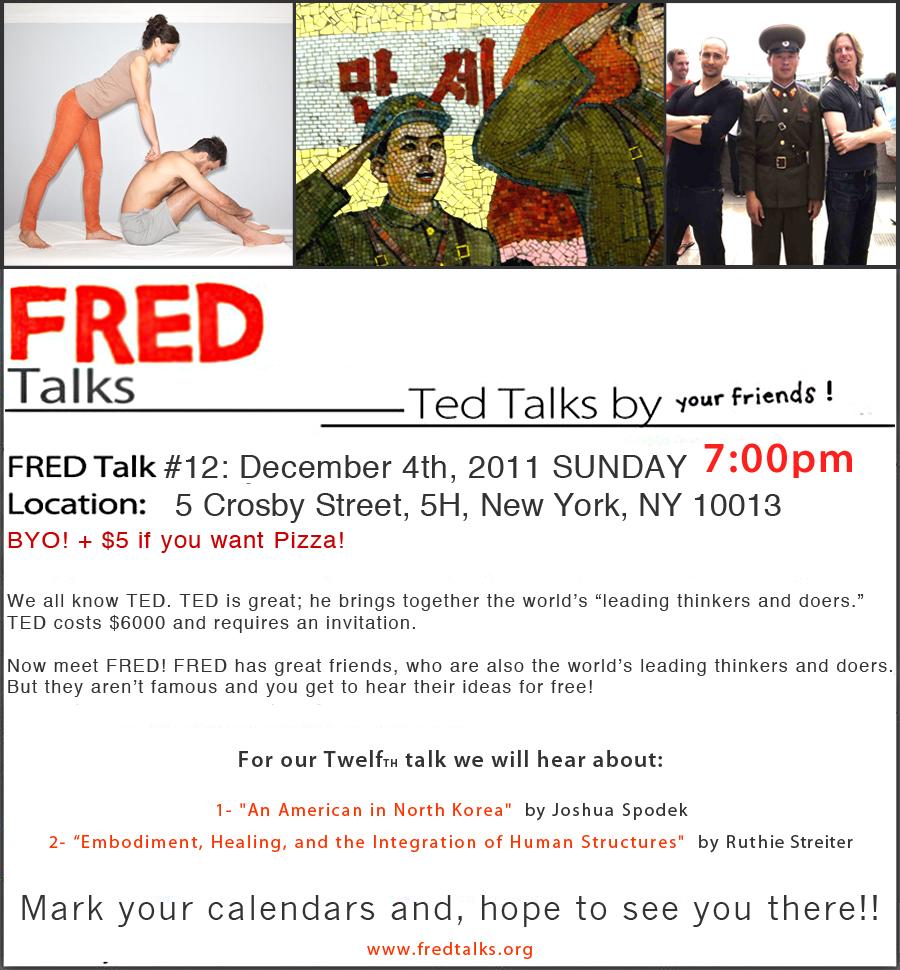 Fred invitation -- North Korea