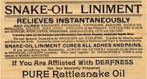 Snake Oil Ad