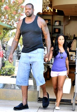 Shaquille and girlfriend