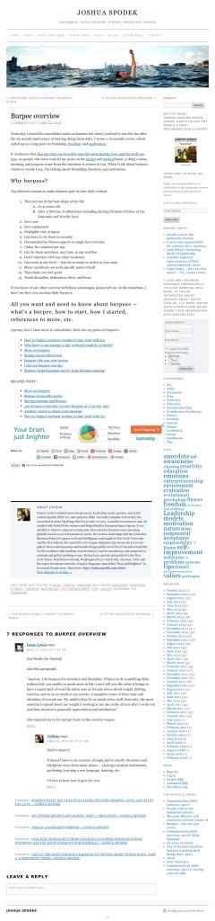 joshuaspodek.com screenshot