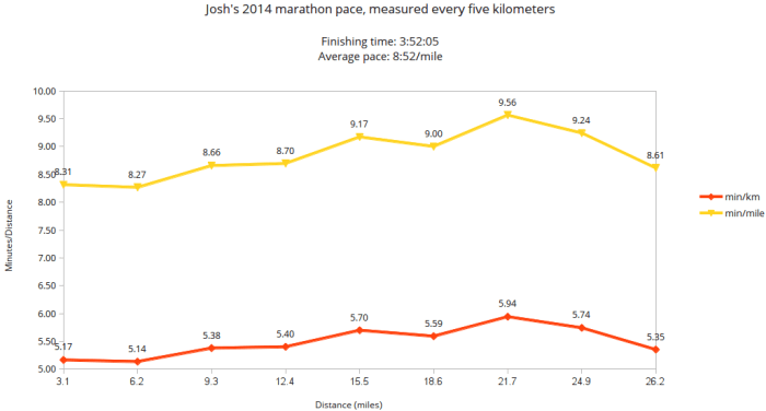Joshua Spodek's 2014 New York City Marathon Results