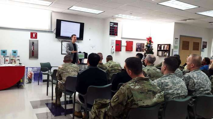 United States Army Garrison Yongsan Seoul Leadership Workshop with Joshua Spodek