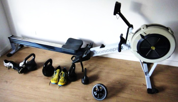 All my exercise equipment