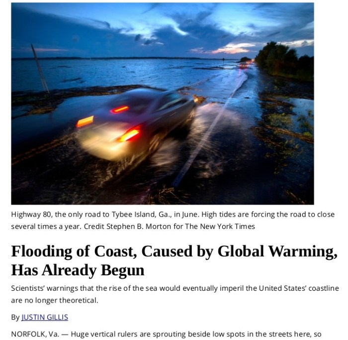 New York Times on Global Warming Now