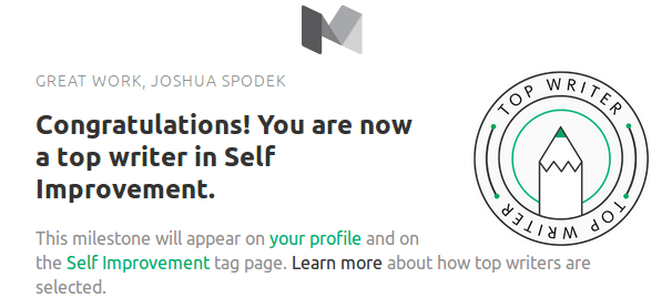 Joshua Spodek Top Self Improvement Writer
