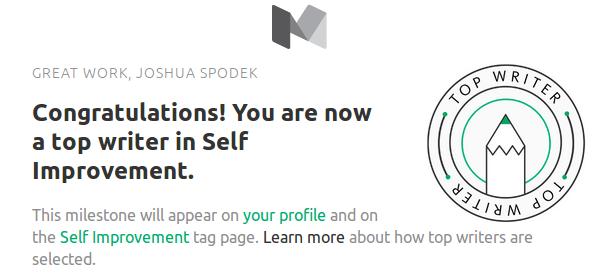 Joshua Spodek Top Self Improvement Writer