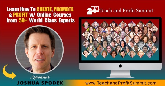 Joshua Spodek at the Teach and Profit Summit
