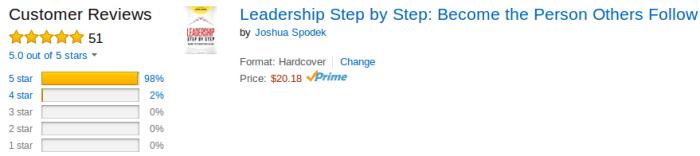 Leadership Step by Step 51 Reviews