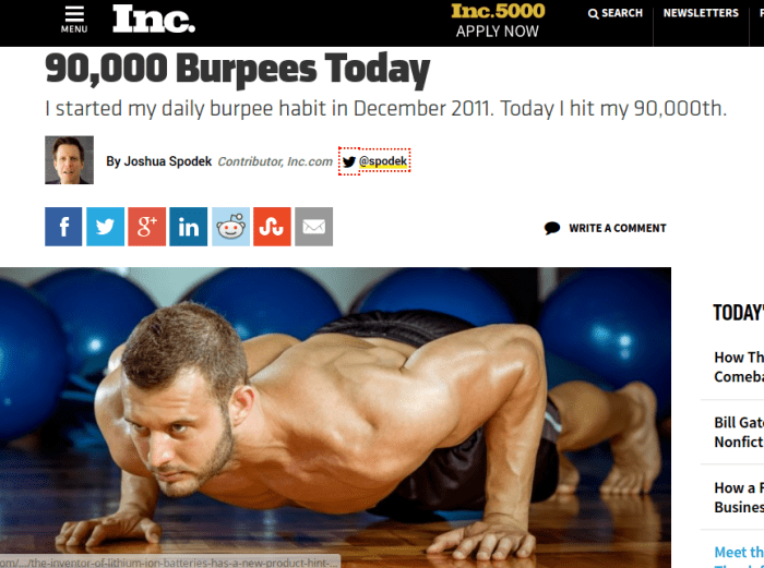90000 burpees Inc