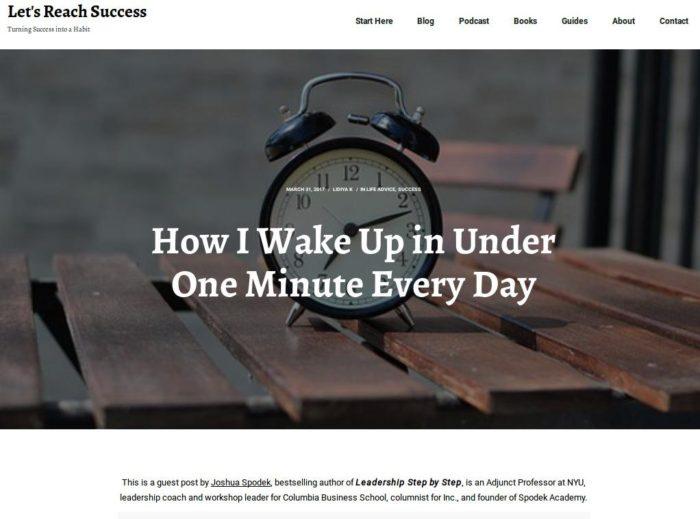 Joshua Spodek Lidiya K Wake up in under a minute