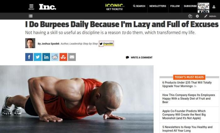 I Do Burpees Daily Because I'm Lazy and Full of Excuses