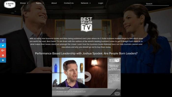 Joshua Spodek on C-Suite TV
