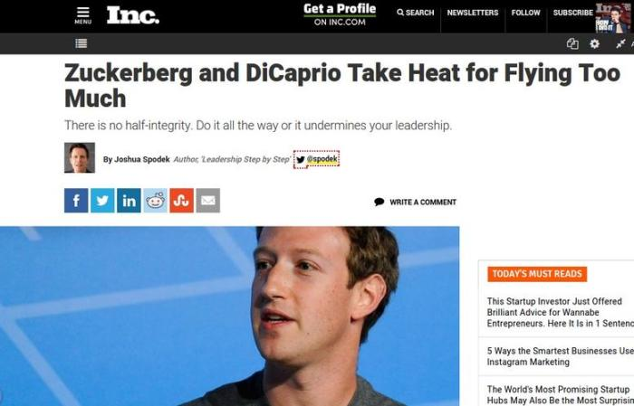 Zuckerberg and DiCaprio Take Heat for Flying Too Much