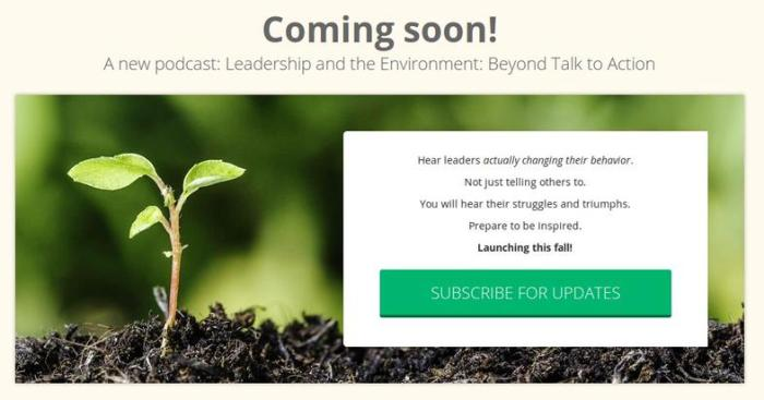 Leadership And The Environment Coming Soon