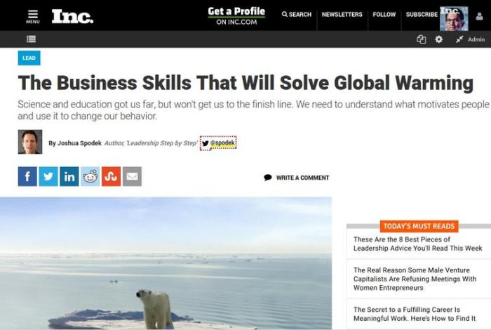 The Business Skills That Will Solve Global Warming