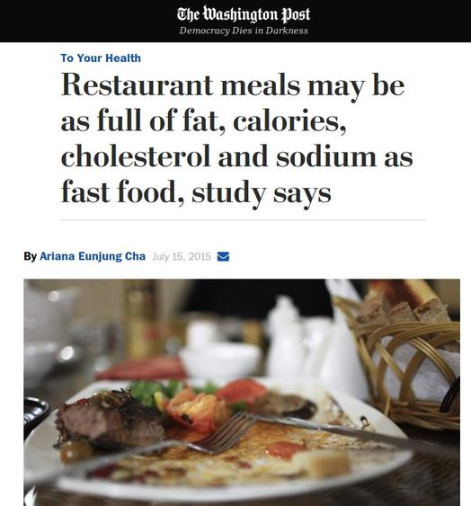 Sit-down restaurants are unhealthy