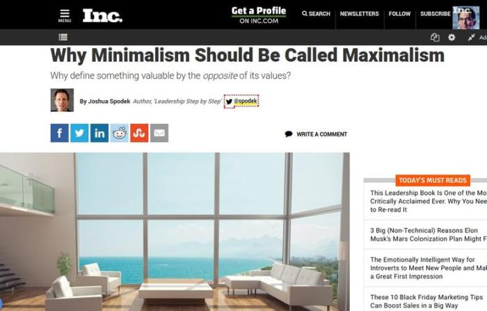 Why Minimalism Should Be Called Maximalism