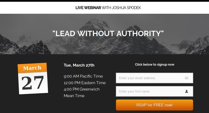 Lead without authority, LEADx's webinar with Joshua Spodek