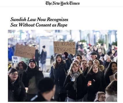 The New York Times on Sweden's new law