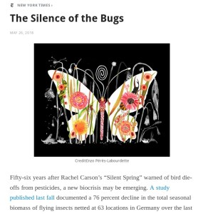 The Silence of the Bugs by Curt Stager in the New York Times