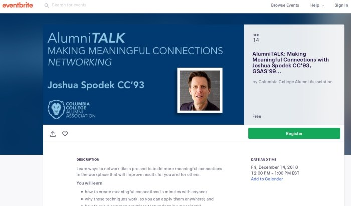 Join my webinar with Columbia Alumni, Free, open to the public