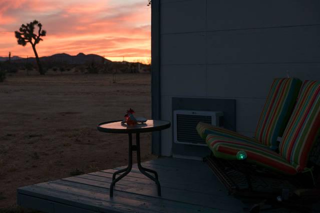 love seat sunset