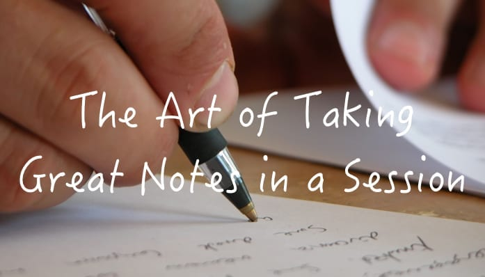 Taking notes post