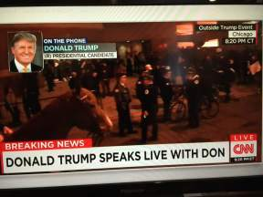 CNN shows Trump Riots in Chicago!
