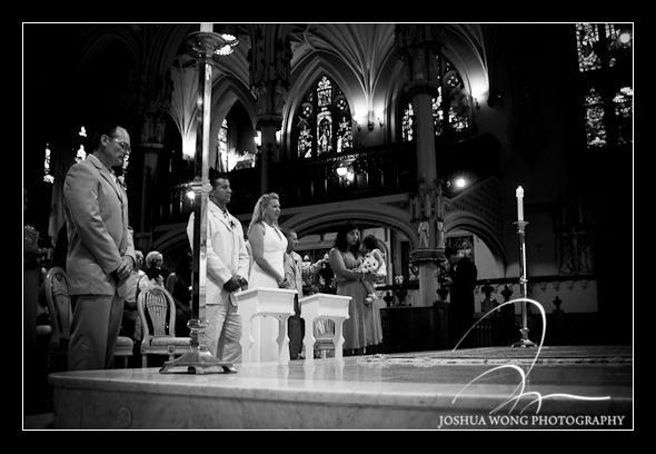 Wedding at Our Lady of Good Counsel Catholic Church, New York City. Wedding Photos by NYC Wedding Photographer Josh Wong Photography