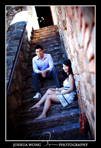CASTELLO DI AMOROSA engagement pictures by SF Wedding photographer Josh Wong Photography