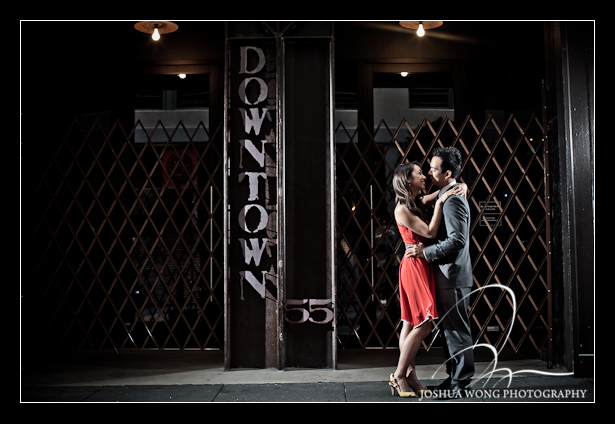 San Francisco engagement pictures - Maiden Lane Ave by Union Square