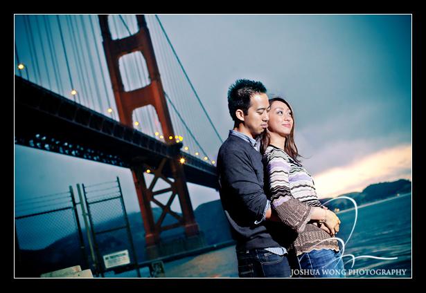 San Francisco engagement pictures - Golden Gate Bridge