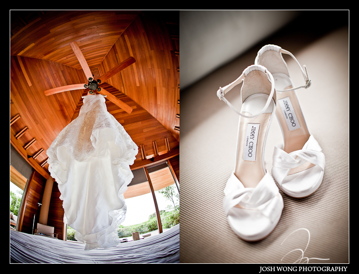 Jimmy Choo Wedding Shoe pictures at the Amanyara Resort, Turks and Caicos. Wedding photos by destination wedding photographer Josh Wong Photography