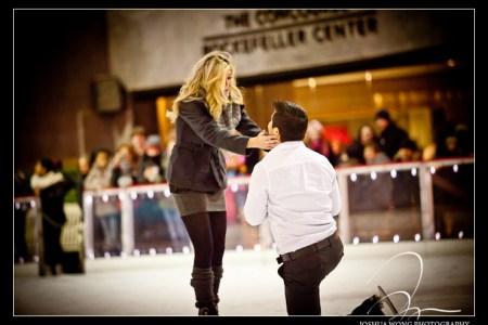 rockefeller ice rink engagement proposal