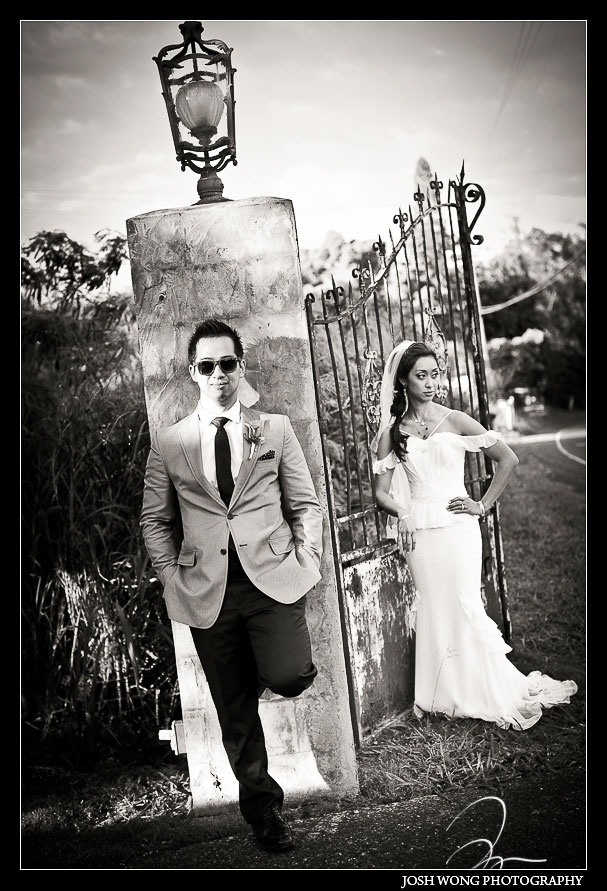 Main gate entrance at  the Haiku Mill Destination Wedding, Maui Hawaii - Wedding Pictures by Destination Wedding Photographer Josh Wong Photography