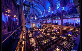 Angel Orensanz. A view from the balcony. Photography by NYC Wedding Photographer Josh Wong