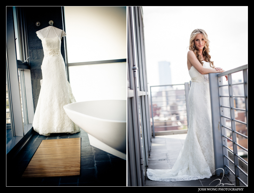 The Bride wearing Anne Barge Wedding Dress. Wedding pictures by Josh Wong Photography