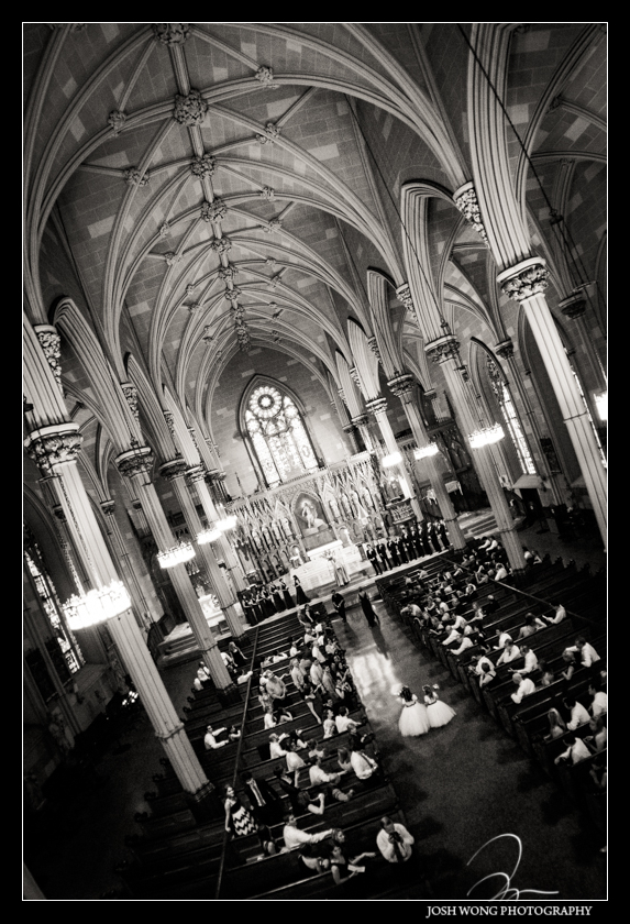 A view from the balcony of Old St. Patrick's Cathedral Wedding pictures provided by Josh Wong Photography