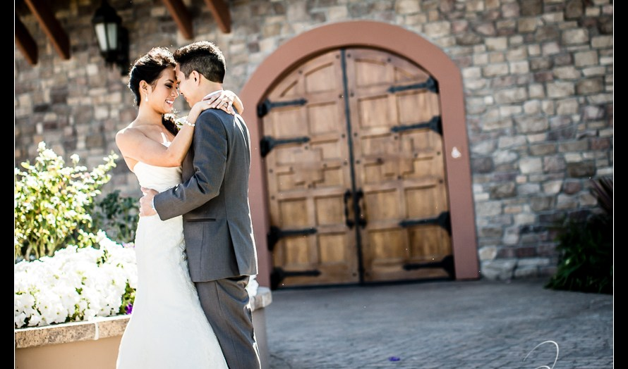 Casa Real's has a gorgeous sunset - Bride and Groom bridal portraits at Casa Real's - A magnificent wedding at Casa Real at Ruby Hill Winery, Pleasanton, Ca. Wedding pictures by San Francisco wedding photographer Josh Wong Photography
