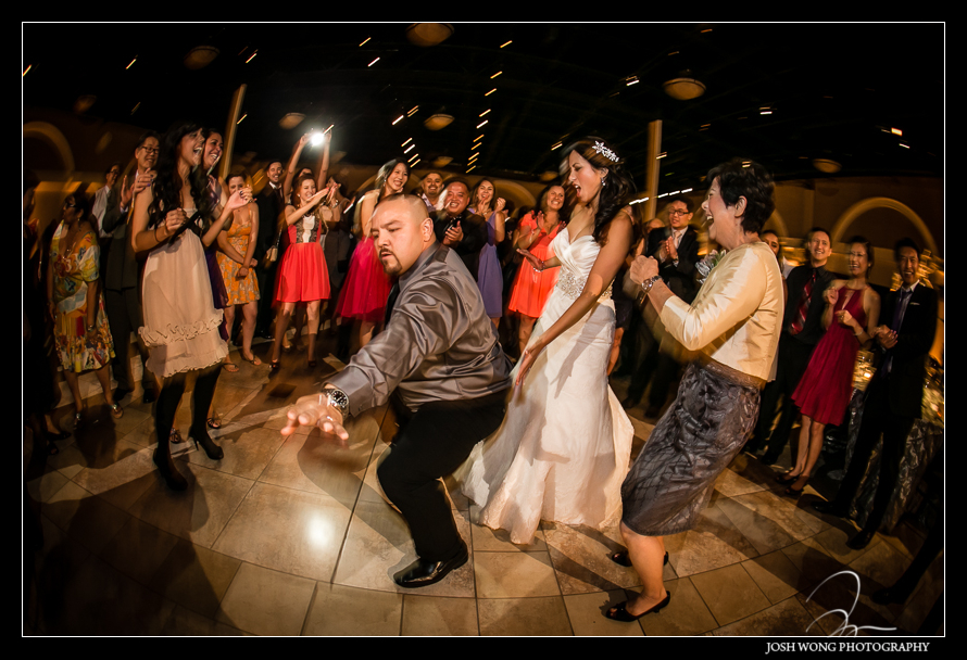 Dancing the night away at Casa Real Winery - A magnificent wedding at Casa Real at Ruby Hill Winery, Pleasanton, Ca. Wedding pictures by San Francisco wedding photographer Josh Wong Photography