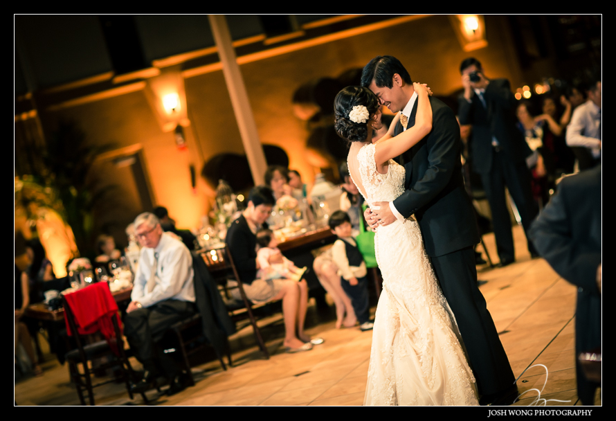 The first dance at Palm Events Center Wedding in Pleasanton, CA - wedding pictures by Josh Wong Photography