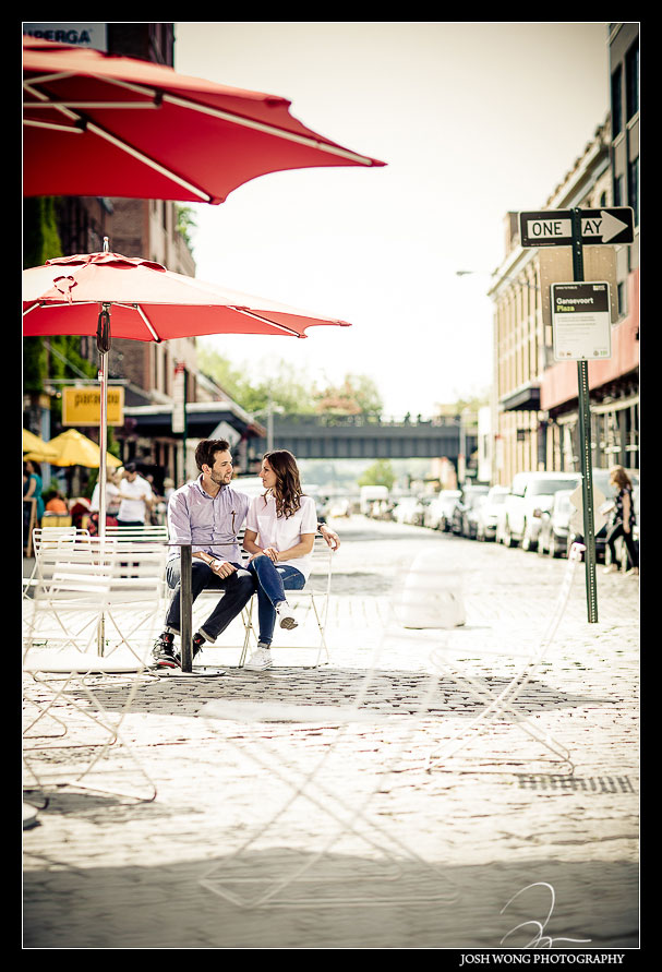 Meat Packing and Chelsea District engagement pictures, New York Wedding photographer Josh Wong Photography