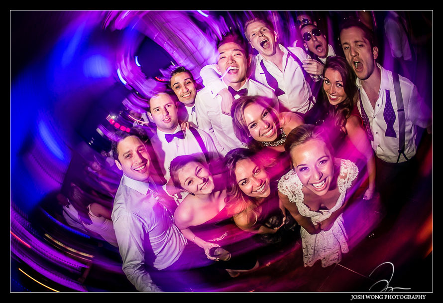 Dancing and partying the night away at Guastavino's. Wedding pictures by one of NYC's Top Wedding Photographers - Josh Wong Photography