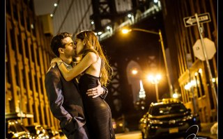Romantic moments as though it was straight out of a movie. Intimate New York City Engagement Photoshoot. The High Line, Chelsea Meat Packing and DUMBO. Engagement pictures provided by NYC engagement photographer Josh Wong Photography